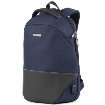 Jodebes JD2092 Backpack With USB Charging Port - Dark Blue