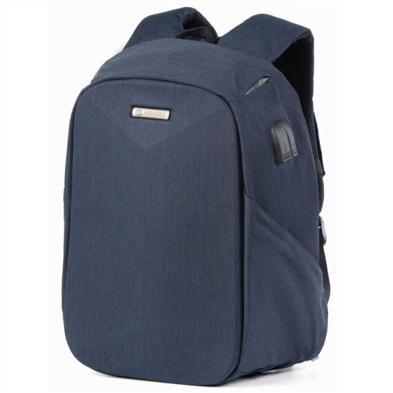 Jodebes JD0138 Multifunctional Backpack With USB Port - 15L Blue
