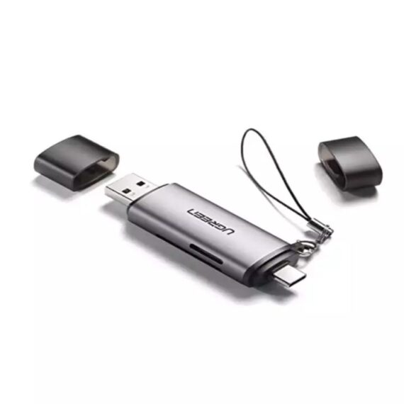 UGreen Type C TF + SD Card Reader with USB Power - 50706